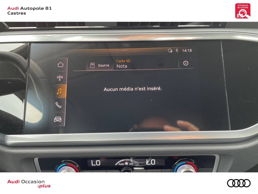 Photo voiture AUDI Q3 Q3 35 TFSI 150 ch S tronic 7 Design 5p     occasion en vente à Castres à 35900 euros